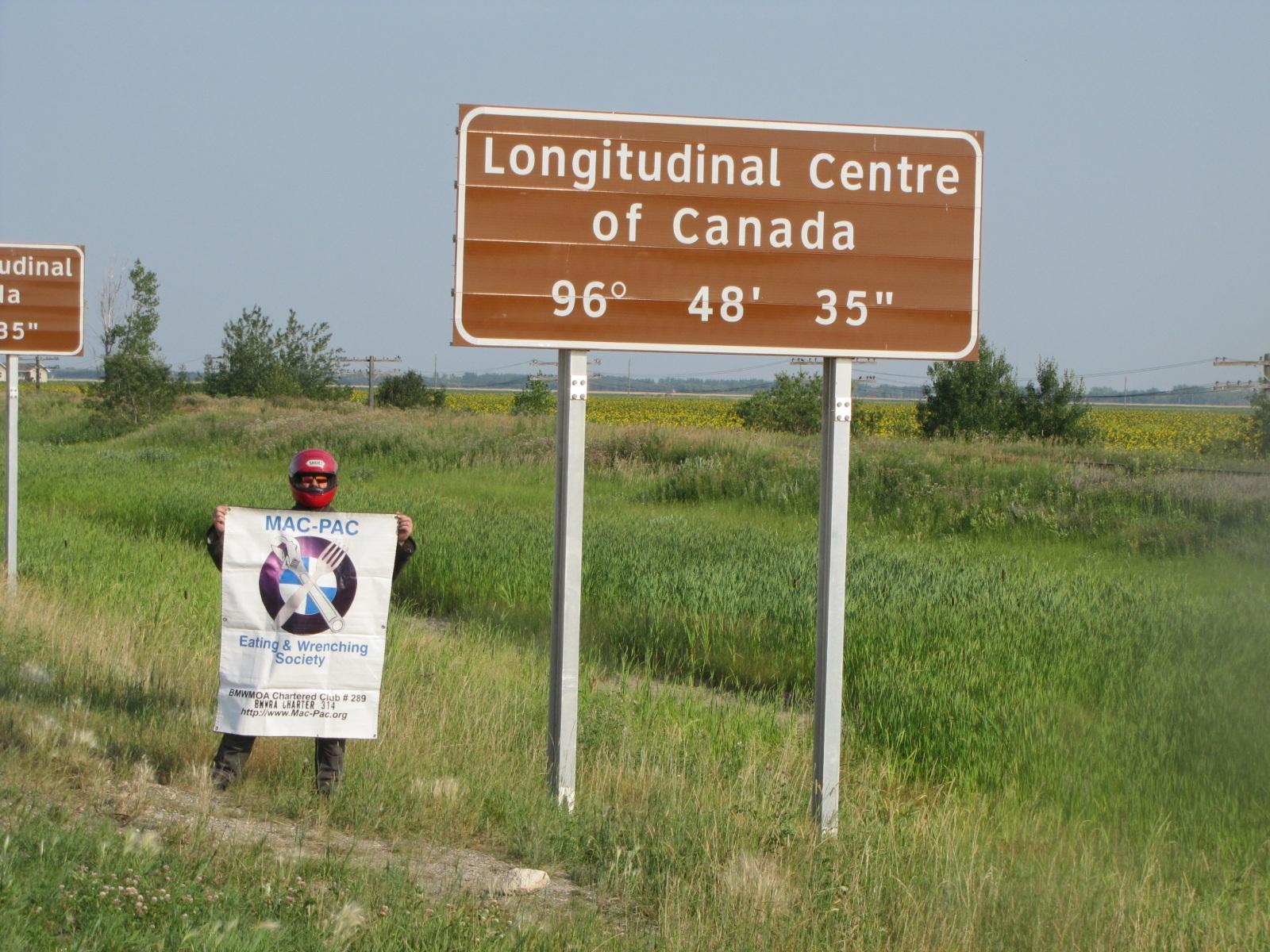 Longitudinal Centre of Canada