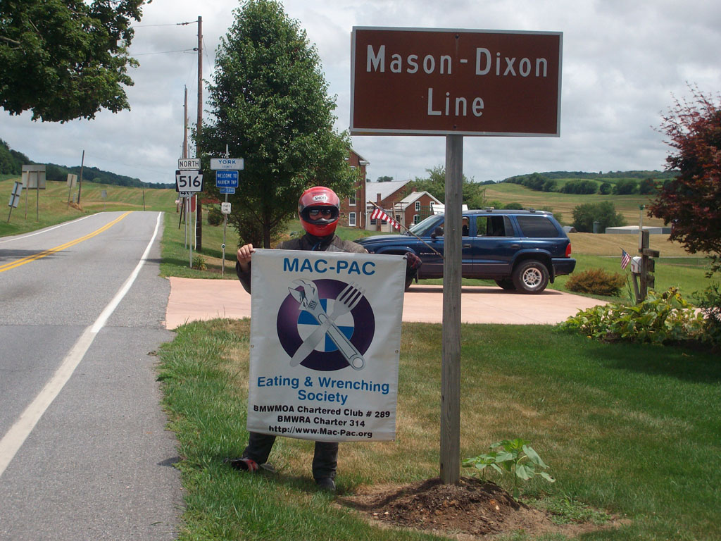 Maryland - Pennsylvania Border - Mason-Dixon Line